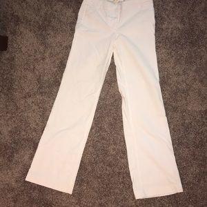 Favorite Fit J Crew white corduroy wide leg jeans